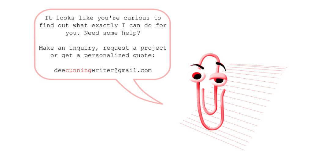 Service Inquiry Contact | Dee Cunning Creative Content & Copywriting